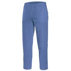 Pantalón pijama con cintas celeste