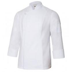 Chaqueta cocinero con cuello mao blanca