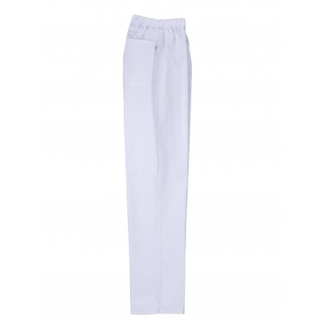 Pantalón sanitario blanco con cinturilla elástica