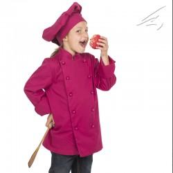 Chaqueta cocinero infantil frambuesa