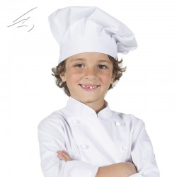 Gorro chef infantil blanco