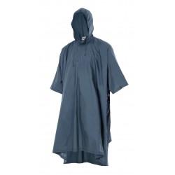 Poncho de lluvia con capucha azul marino