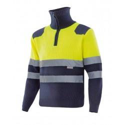 Jersey bicolor AV cremallera
