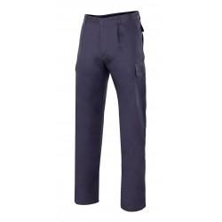 Pantalón algodón pinzas marino
