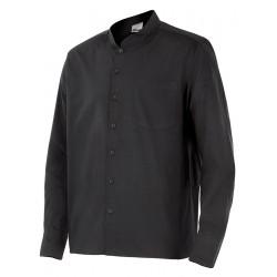 Camisa hombre cuello mao, m/l, c/negro