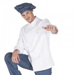 Chaqueta cocina m/l, botón forrado