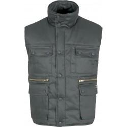Chaleco Vest 100% Algodón color gris